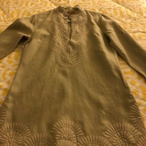 Tory Burch Tunic Linen Shirt - Size 8